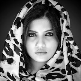 T A N I Y A E Y E S by Red Photography - Black & White Portraits & People