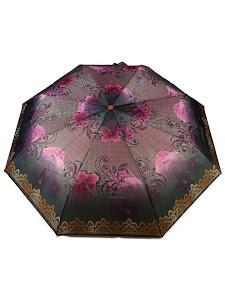 "Зонт ""Компакт S"", черно-розовый"