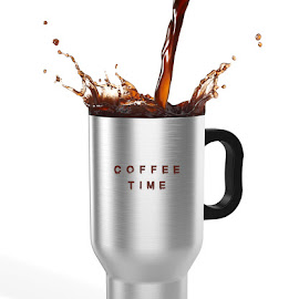 Coffee Time by Miroslav Potic - Food & Drink Alcohol & Drinks ( mug, time, splash, silver, coffee, travel )