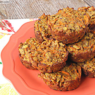 Carrot Cake Baked Oatmeal Cups {Gluten, Dairy & Nut Free}