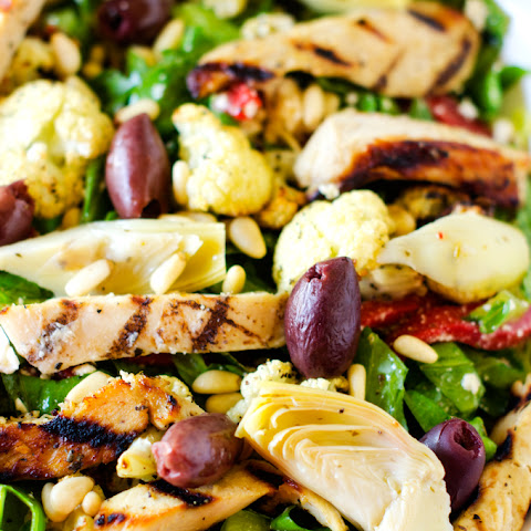 Marinated Mediterranean Grilled Chicken Salad