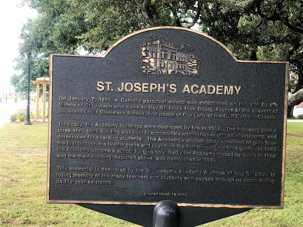 On January 7, 1855, a Catholic parochial school was established on this site by the Sisters of St. Joseph who came to Bay St. Louis from Bourg, France at the request of Reverend Louis Stanislaus ...