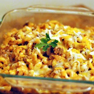 Ground Beef Macaroni Casserole Cream Of Mushroom Soup Recipes