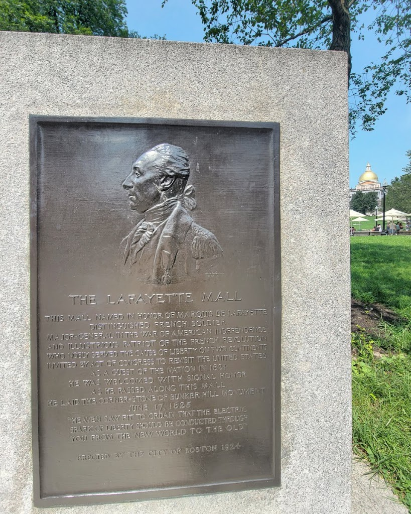 The Lafayette Plaque was dedicated on Boston Common ninety-seven years ago today to commemorate the 100th anniversary of the return of Revolutionary War hero Marquis de Lafayette, to Boston, in 1824. ...