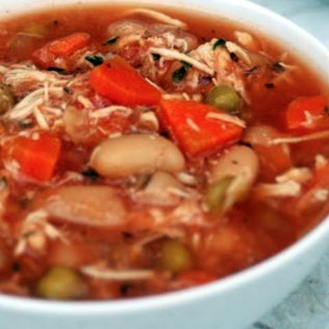 Slow Cooker Chicken Vegetable Soup – 2 Smartpoints