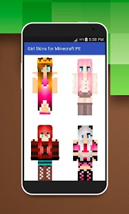 Girl Skins for Minecraft PE - screenshot