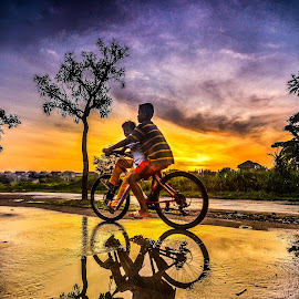 After Rain by Gatot Sulistyawan - Transportation Bicycles