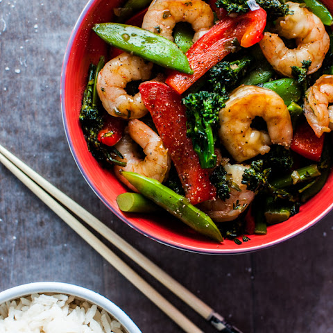 Skinny Shrimp and Vegetables