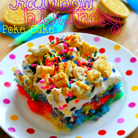Better Than Presents... Rainbow Birthday Poke Cake