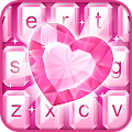 Pink Diamond Keyboard Theme APK for Bluestacks
