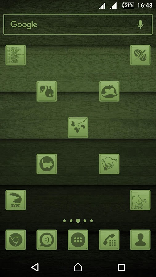 Wooden Icons Green Screenshot 1