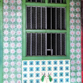 Peranakan Heritage Window by Wan Loy Yeong - Buildings & Architecture Architectural Detail ( cultural heritage, window, blue, cultural, peranakan, windows, malaysia, ipoh, culture, heritage )