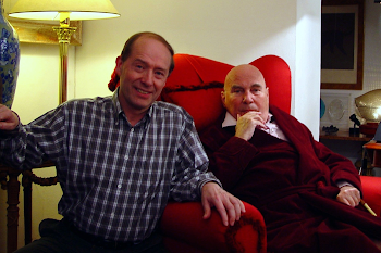 With Hans Werner Henze at his home in Italy, 2005