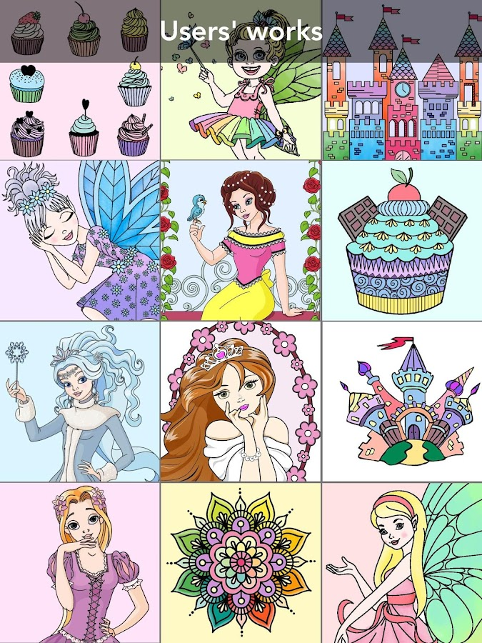 Princess coloring book Screenshot 19