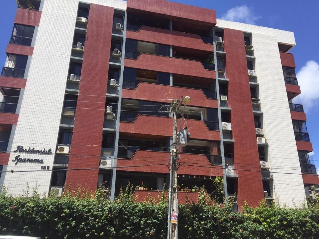 Apartamento com 3 dormitórios para alugar, 130 m² por R$ 1.500/mês - Jardim Oceania - João Pessoa/PB
