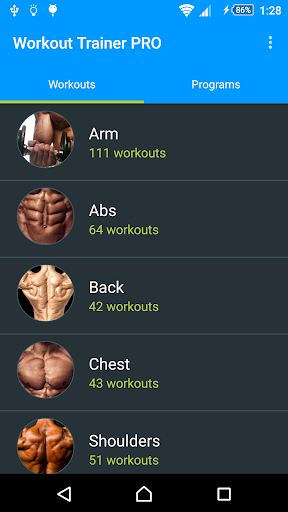 Workout Trainer PRO - screenshot