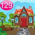 Cartoon Garden House 129