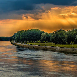 Clouds above the river by Eseker RI - Landscapes Cloud Formations (  )