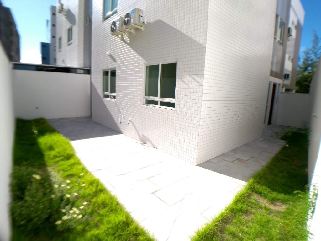 Apartamento térreo com área externa, 2 dormitórios à venda, 62 m² por R$ 270.000 - Jardim Oceania - João Pessoa/PB