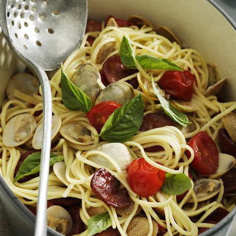 Linguine alle Vongole with Chorizo