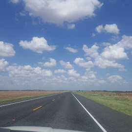 Nothing better than a Texas Sky! #gladtobehome by Samantha Castilleja - Landscapes Cloud Formations