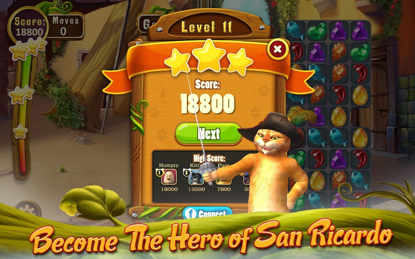 Puss In Boots Jewel Rush Screenshot 10