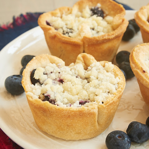 Mini Blueberry Cream Cheese Pies