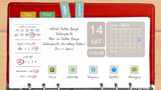 Agenda Red Theme for TL- screenshot thumbnail
