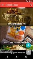 Screenshot of Arabic recipes free - CookBook