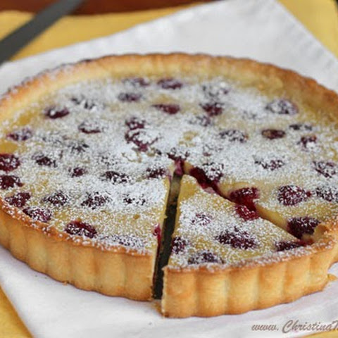 Quick Raspberry Custard Tart