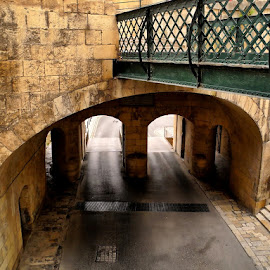 A bridge within a bridge by Francis Xavier Camilleri - City,  Street & Park  Street Scenes ( detail, malta, victoria gate, valletta, historic district, steps, architecture, gate )