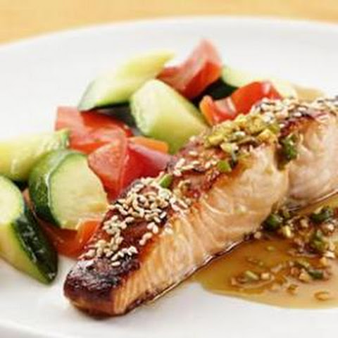 Honey-Soy Broiled Salmon from Eating Well