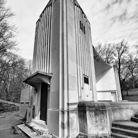 Highland Park Bowl by Cal Brown - Buildings & Architecture Other Exteriors ( building, black and white, new york, architecture, city park, rochester )