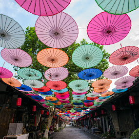 Anren old town 3 by Xianwen Xu - City,  Street & Park  Street Scenes ( 2018, street, sichuan, old town, leica )