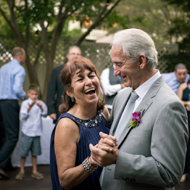 True Love, TRUE Laughter  by Michael Keel - People Couples ( love, true laughter, wedding day, true love, old couple, laughter )