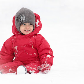 red in snow by Andreea Ciuca - Babies & Children Babies