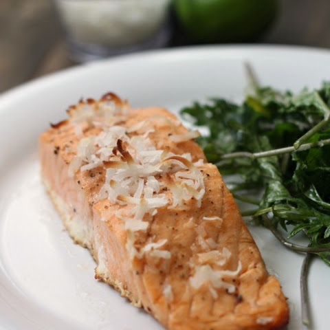 Coconut Lime Baked Salmon