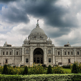 Just before rain, Victoria Memorial by Amit Baran Sen - City,  Street & Park  Amusement Parks (  )