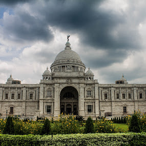 Just before rain, Victoria Memorial by Amit Baran Sen - City,  Street & Park  Amusement Parks