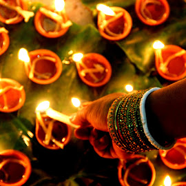 May the light show you the way by Sourav Saha - Novices Only Abstract ( festive, candle, durga puja, light,  )