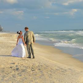Into the future by Brenda Shoemake - Wedding Bride & Groom (  )