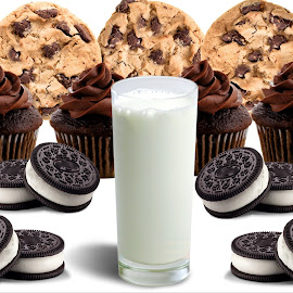 Milk and Treats by Christy Stanford - Food & Drink Cooking & Baking ( treats, chocolate, sweets, cupcakes, food, milk, drink, cookies )
