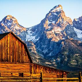 Mormon Barn by Robert Golub - Landscapes Mountains & Hills