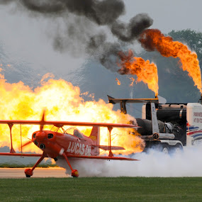 Heated Seat! by Greg Harrison - Transportation Airplanes ( shockwave, lucas oil, jet truck, pitts, air show )