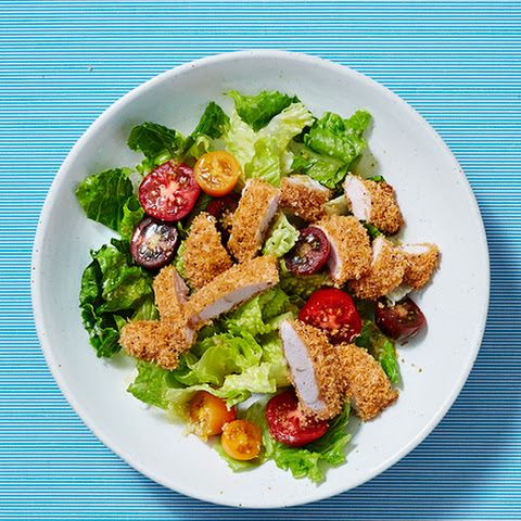Oven-Fried Chicken With Lemony Romaine Salad