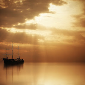 silent by Suloara Allokendek - Landscapes Waterscapes ( silent, ss, gold, alone, light )