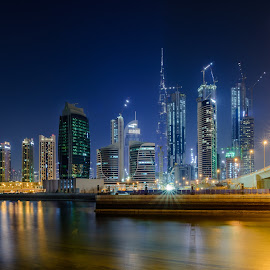 Downtown Dubai by Shabbir Shani - Buildings & Architecture Office Buildings & Hotels ( mydubai, ilovemydubai, shabbirshaniphotography, dubai skyline, dubai photos, downtown dubai, bridge, architecture, burj khalifa, life of dubai )