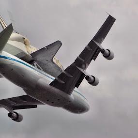 Shuttle Arriving by Jim Schlett - Transportation Airplanes ( flight, plane, shuttle airspace, jet )