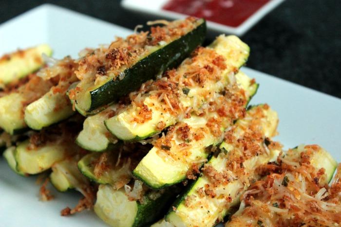 Baked Garlic Parmesan Zucchini Recipe   Yummly