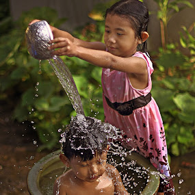 Lovely  by Azmil Omar - Babies & Children Children Candids ( water, girl, children, kids, boy )